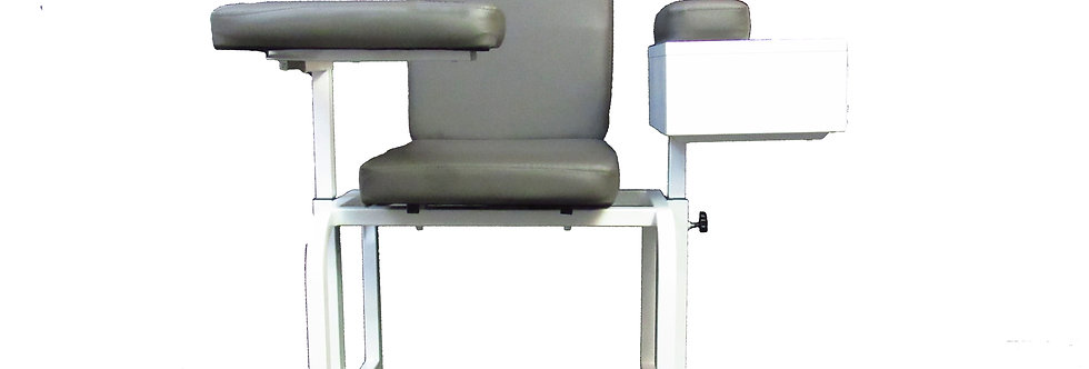 Padded Cushion Seat, Phlebotomy Chair, Strong Structural Frame, Metal Cabinet