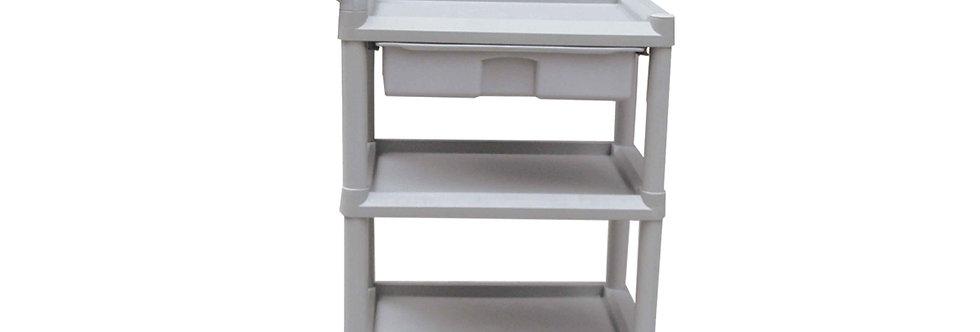 "Plastic Trolley, 22""x15""x35"", 3 Shelves"