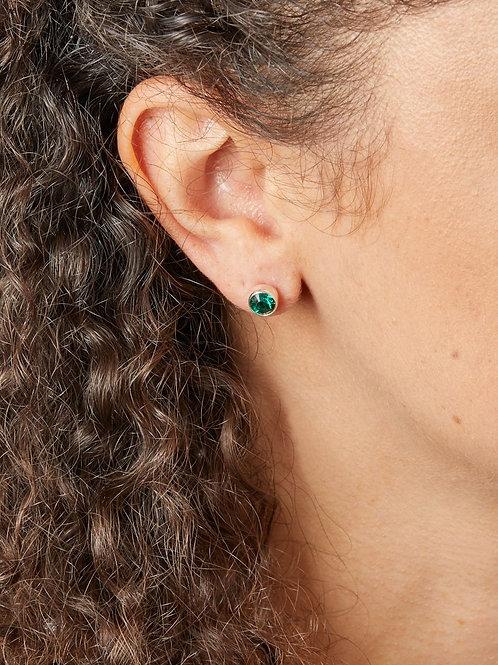 May Birthstone Stud Earrings