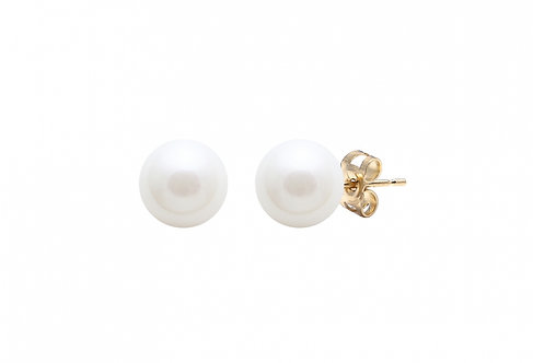 Cultured River Pearl Earring Studs