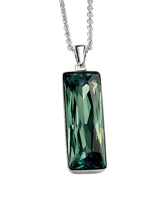 Rectangle Pendant With Ernite Green Crystal