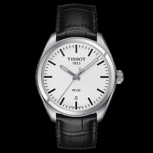 Tissot PR 100 Wrist Watch Leather Strap T1014101603100