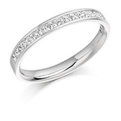 princess cut diamond half eternity ring