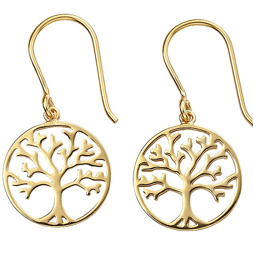 Gold Plated Tree Of Life Earring