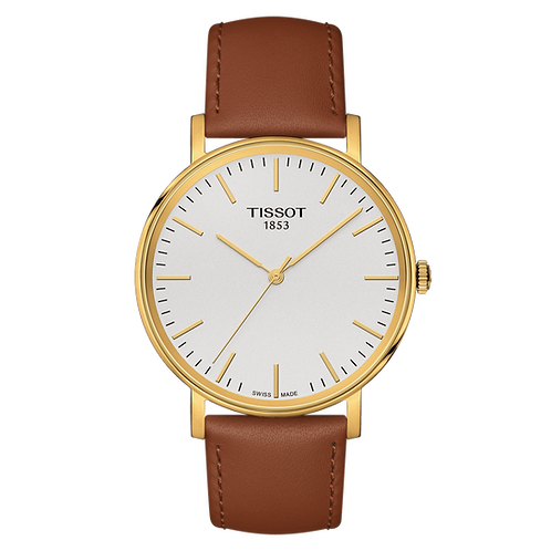 Tissot Everytime Medium Wrist Watch with Light Brown Leather Strap T1094103603100