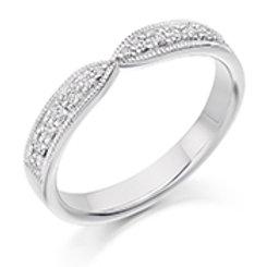 white gold shaped eternity ring