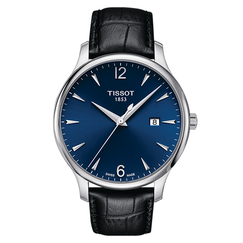 Tissot Tradition Blue Dial Wrist Watch Date T0636101604700