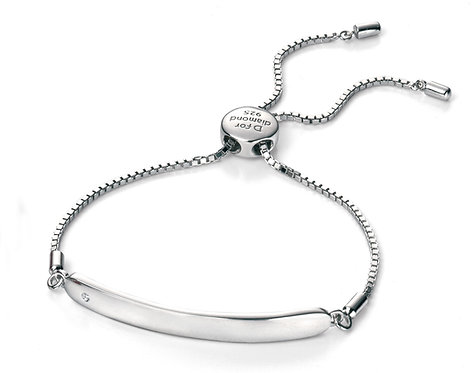 Diamond Chain ID Bracelet