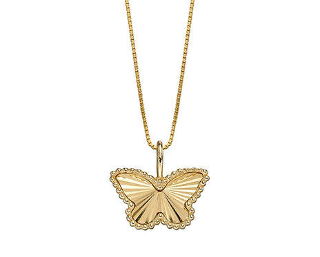 Butterfly Pendant in Yellow Gold