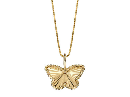 Butterfly Pendant in 9ct Yellow Gold GP2248