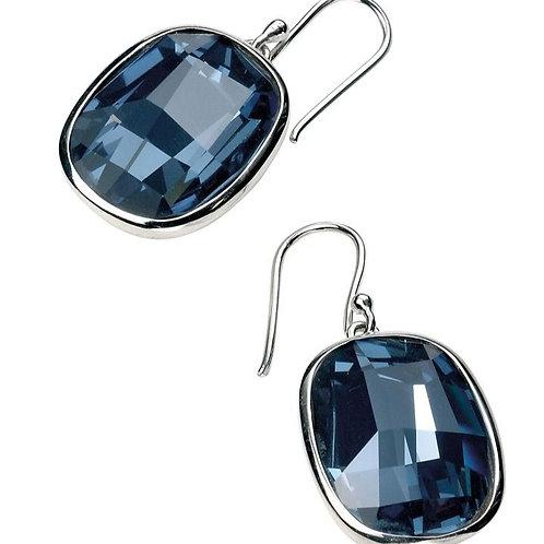 Silver Denim Blue Crystal Earrings E4462L