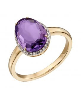 Organic Shaped Amethyst Ring