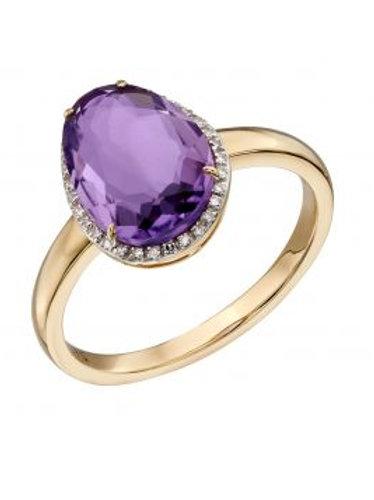 Organic Shaped Amethyst Ring