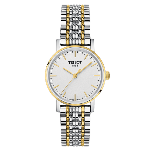 Tissot Everytime Small Gold Silver Ladies Wrist Watch T1092102203100