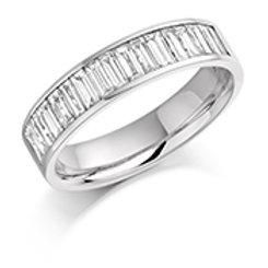 Baguette diamond half eternity ring