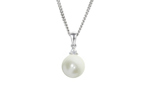 Full Moon Pearl Silver Necklace 9008SILCZ/PL