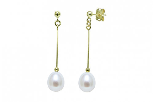 Cultured River Pearl Teardrop Earrings