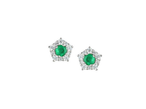 Classico Silver Emerald Earrings 9211SILCZ/E