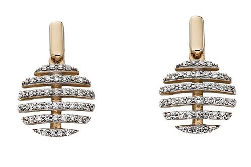 9ct Yellow Gold Diamond Earrings  GE2200
