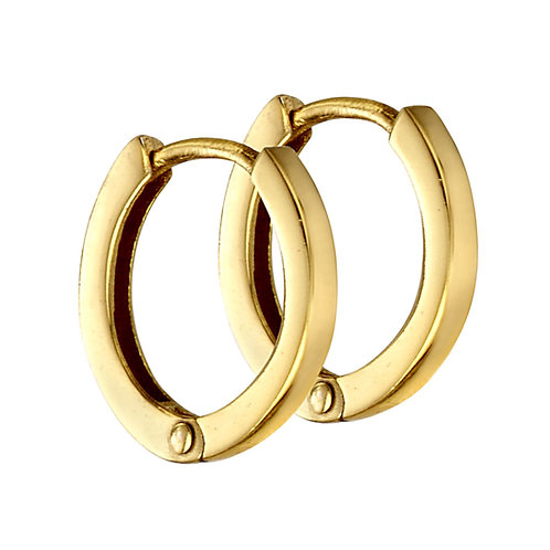 Gold Plated Silver Small Hoops E5865