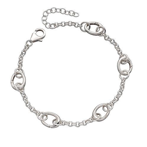 5 Link Silver Charm Bracelet B5218