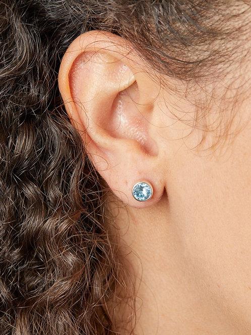 March Birthstone Stud Earrings