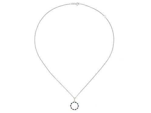 Circle of Life Sapphire Silver Necklace 9139SILCZ/S