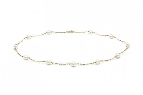 Cultured River Pearl & Chain Necklace