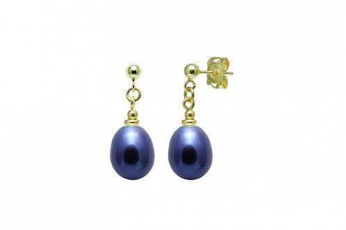 Cultured River Pearl Teardrop Earrings