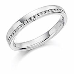 white gold half eternity ring