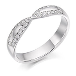 Shaped And Curved Half Eternity Ring