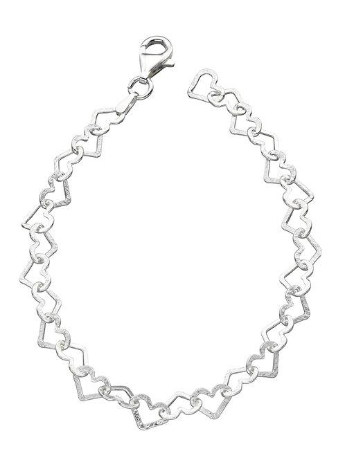 Diamond Cut Heart Bracelet b4323