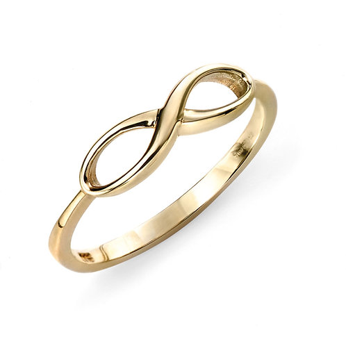 9ct yellow gold infinity ring buy GR464