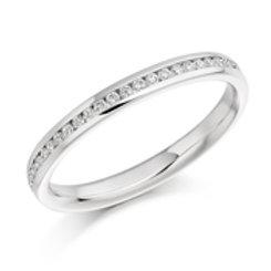 round brilliant cut diamond half eternity ring