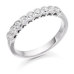 rubover set diamond half eternity ring