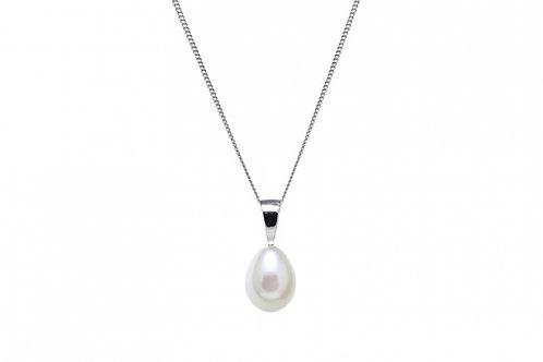 Teardrop Cultured River Pearl White Gold Pendant
