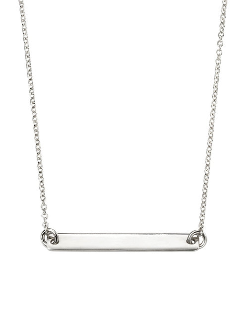 Engravable Sterling Silver Bar Necklace N4044
