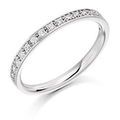 Grain set diamond half eternity ring