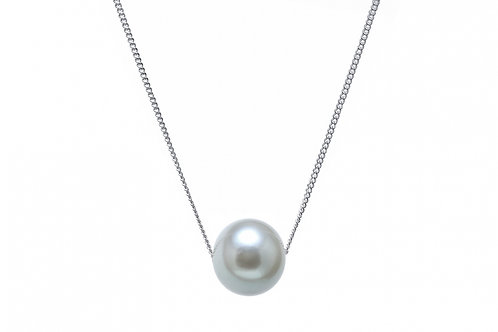 Sliding Round Cultured River Pearl On Chain