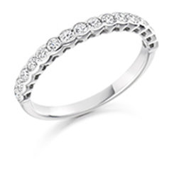 rubover set half eternity ring