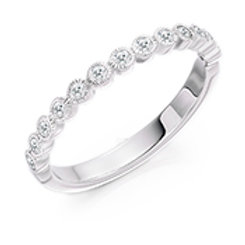 rubover set half eternity ring