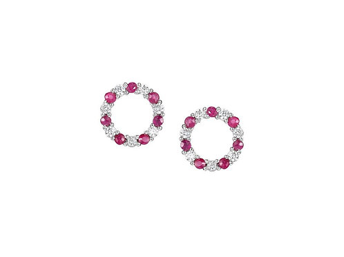 Circle of Life Ruby Silver Earrings 9138SILCZ/R