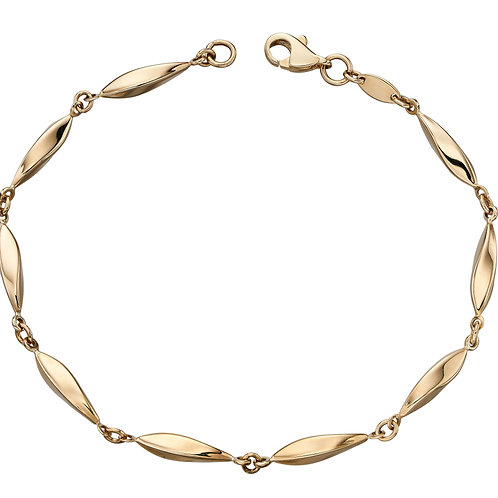 9ct yellow gold Marquise Bracelet GB456