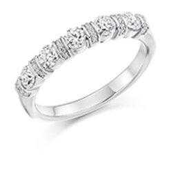 bar set diamond half eternity ring