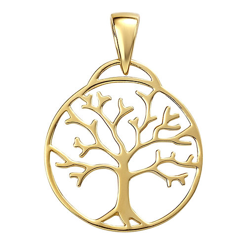 Gold Plated Silver Tree Of Life Pendant P4867