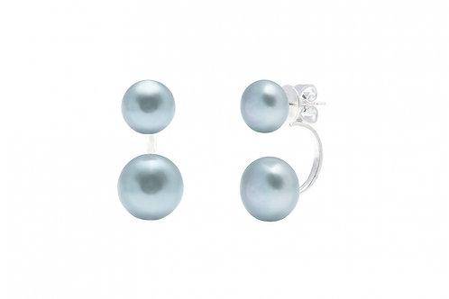 C-Shape Pearl Earring Studs