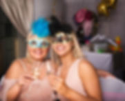 glamorous guests with glam props ready for Funshoot Photobooth party in Washington UK