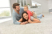 family on clean carpet without chemicals by Clean Rite