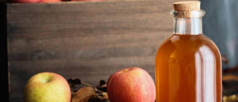 Vinagre sin filtrar de manzana o piña