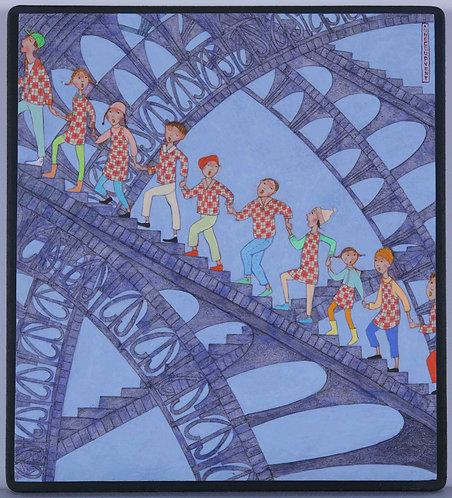 """""""Les écoliers"""" - 21x19 cm"""